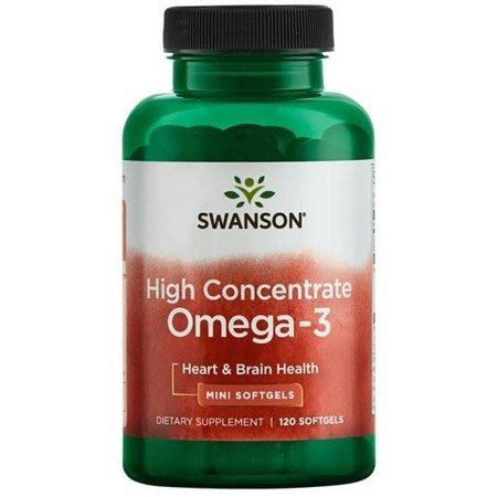 Swanson High Concentrate Omega-3 120 kapslí